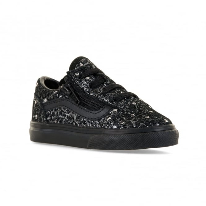9769fad8ba6 vans infants old skool metallic leopard trainers black kids from loofes uk