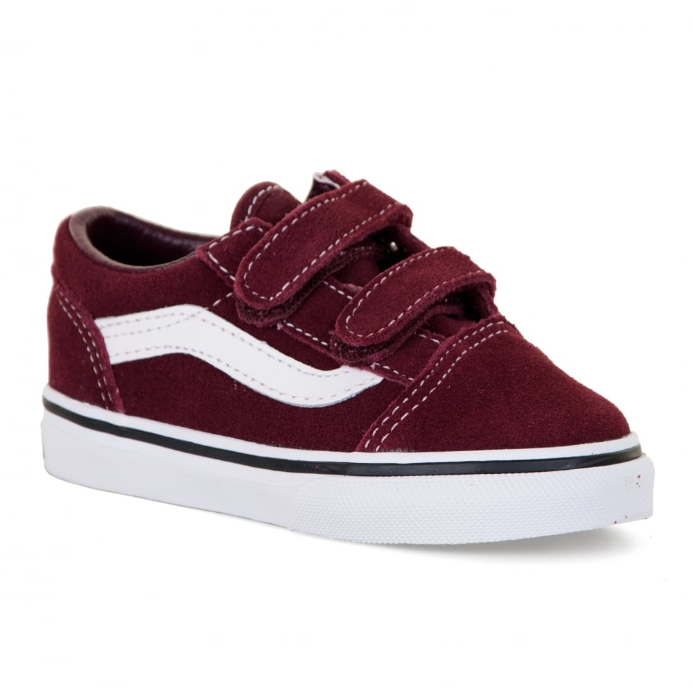 maroon and beige vans