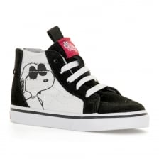 Vans Infants SK8 HI Peanuts Trainers (Black)