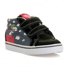 Vans Infants SK8 MID Peanuts Trainers (Black)