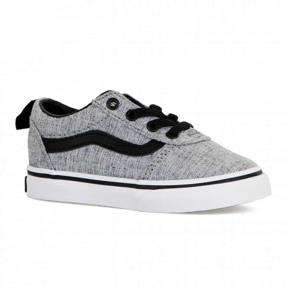 c1292acc28 Vans Infants Ward Slip-On Textile Trainers (Grey) - Kids from Loofes UK