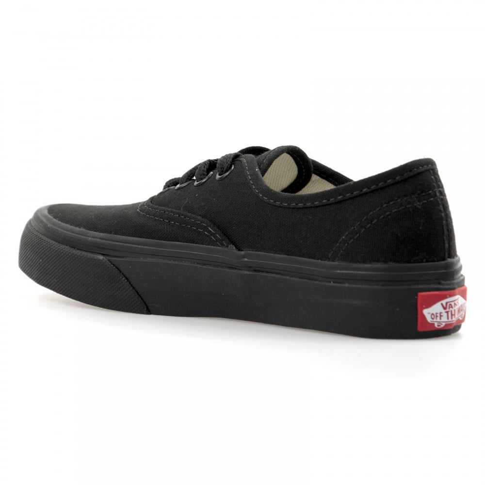 vans authentic junior plimsolls black