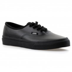 Vans Juniors Authentic Leather Trainers (Black)