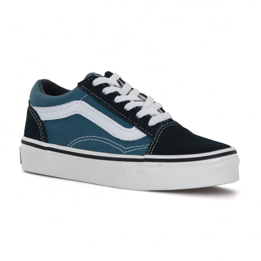 f3f8cc5c390 Vans Juniors Old Skool 317 Trainers (Navy Blue) - Kids from Loofes UK