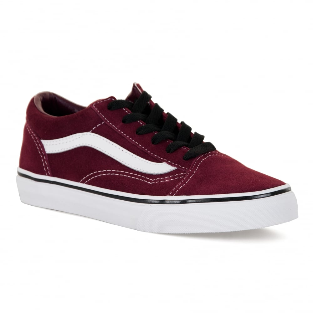 d7afdf0b4a9cd2 Vans Juniors Old Skool 417 Trainers (Maroon) - Kids from Loofes UK