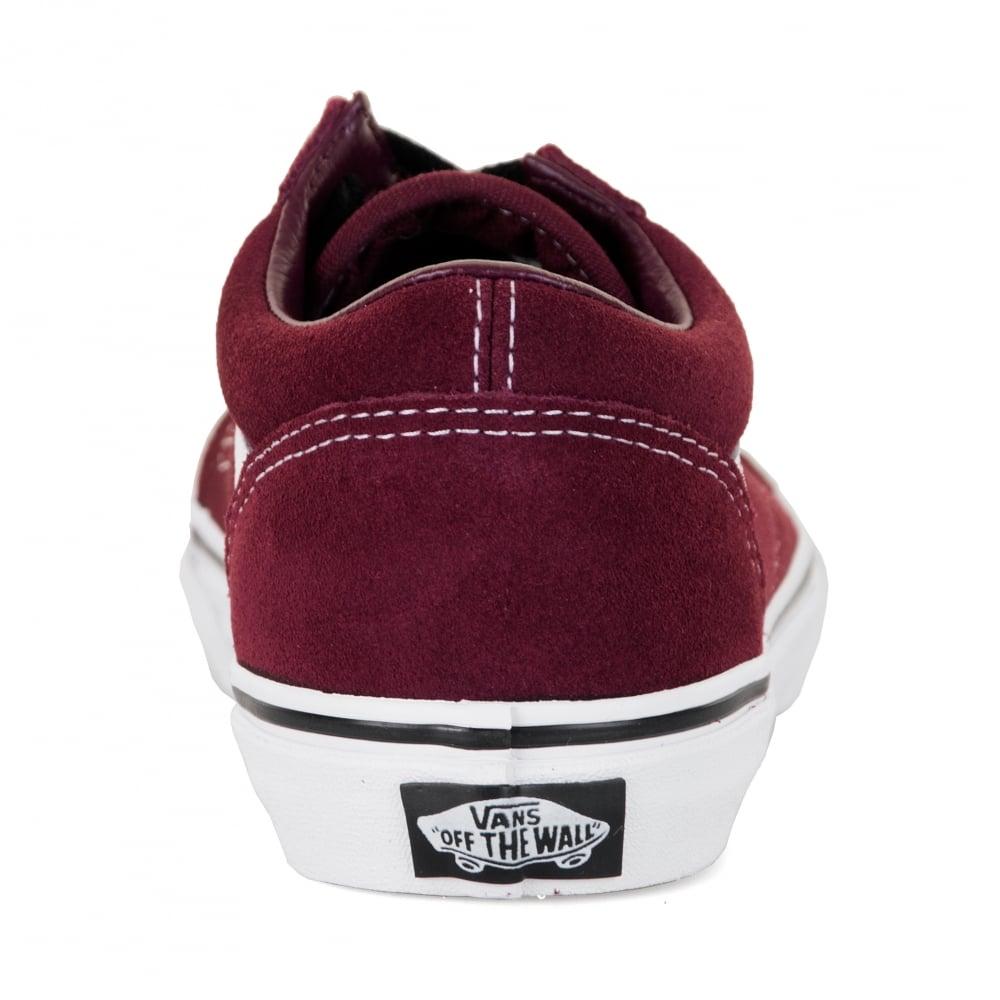 d18289a7d71d04 Vans Juniors Old Skool 417 Trainers (Maroon) - Kids from Loofes UK