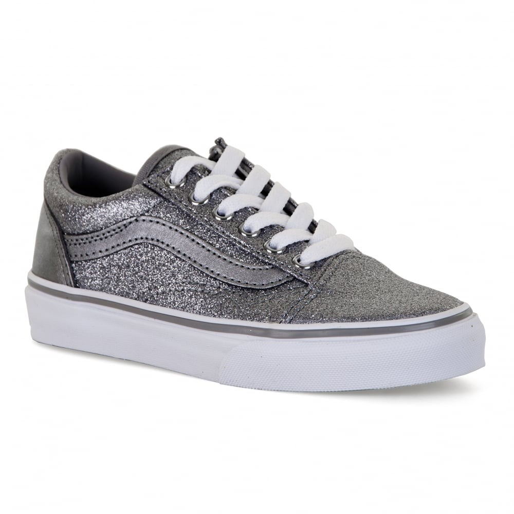 silver slip on vans uk