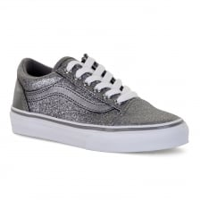 Vans Juniors Old Skool Glitter 417 Trainers (Silver)