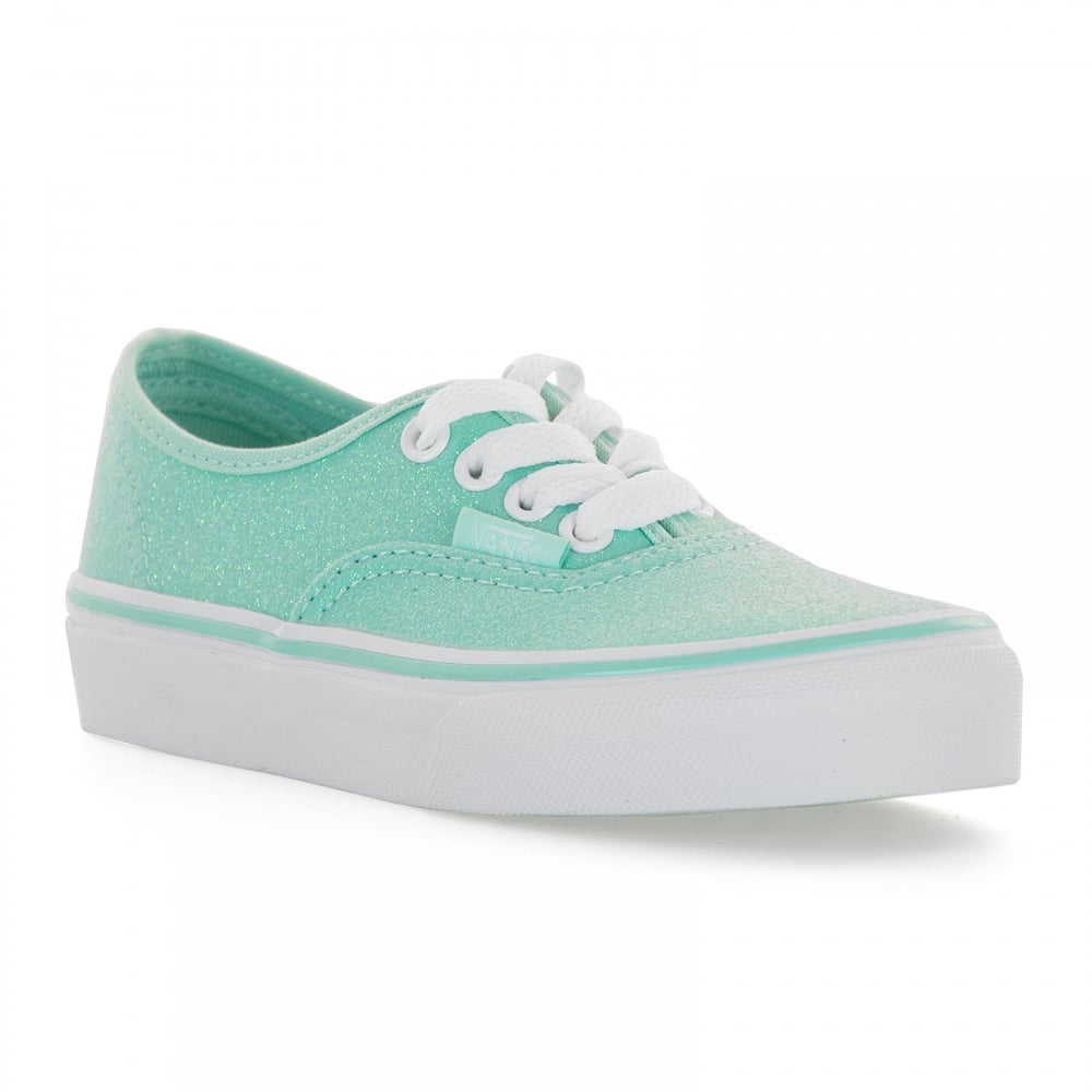 Vans Juniors Old Skool Glitter Trainers (Green) - Kids from Loofes UK 1b60ccf913