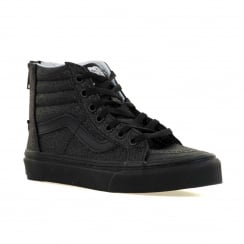 Vans Juniors SK8 Hi Zip Shimmer Trainers (Black Shimmer)