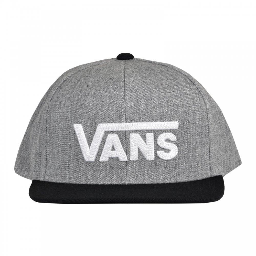 0585c36704 Vans Vans Mens Drop V Snapback Cap (Grey)