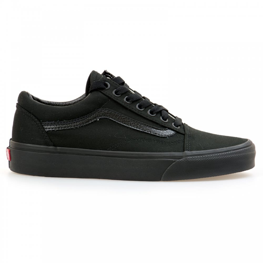 vans vans mens old skool all black trainers black vans. Black Bedroom Furniture Sets. Home Design Ideas