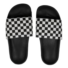 Vans Mens Slide On Flip Flops (Black/White)