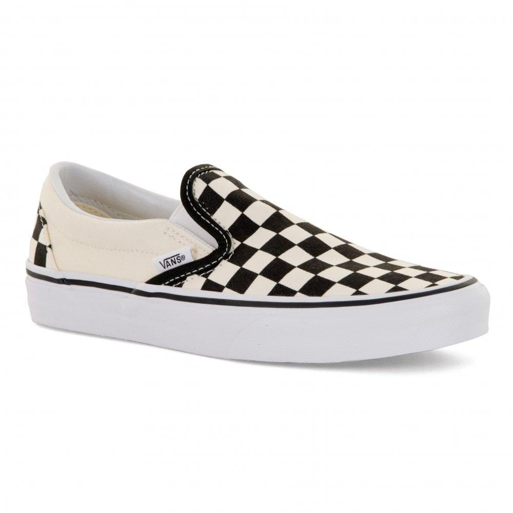 Vans Unisex Classic Slip-On Checkerboard Trainers (Black White ... e3197f6f42