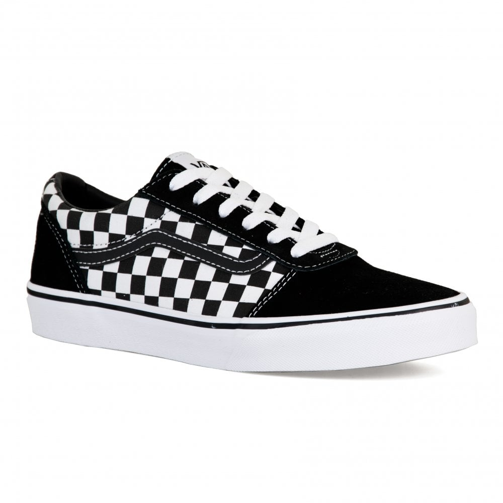b8f65537464 Vans Unisex Youths Ward Checkered Trainers (Black) - Kids from Loofes UK