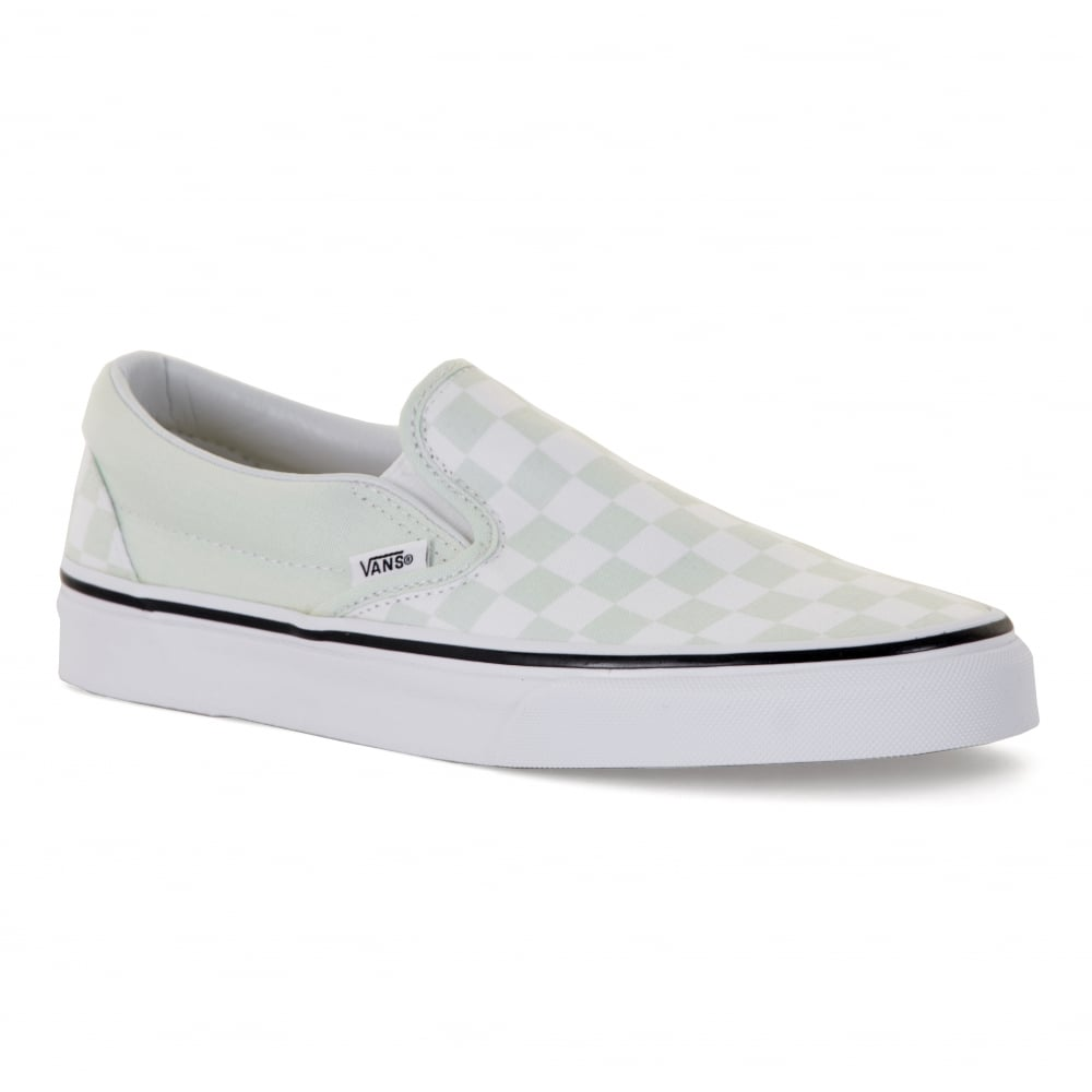 Vans Womens Classic Slip-On Checkerboard Trainers (Blue Flower ... e4d4760bf