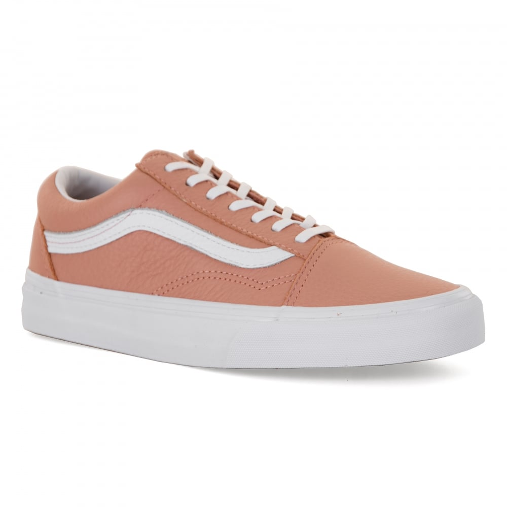 Vans Womens Old Skool Leather 417 Trainers (Pink) - Womens from ... c25901764