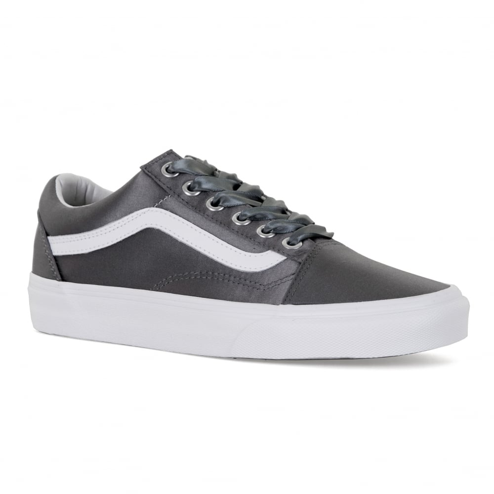 Vans Womens Old Skool Satin Lux Trainers Silver Womens From
