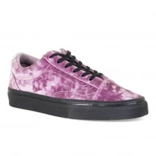 Vans Womens Old Skool Velvet Trainers (Purple)
