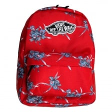 Vans Womens Realm Hawaiian Backpack (Red)