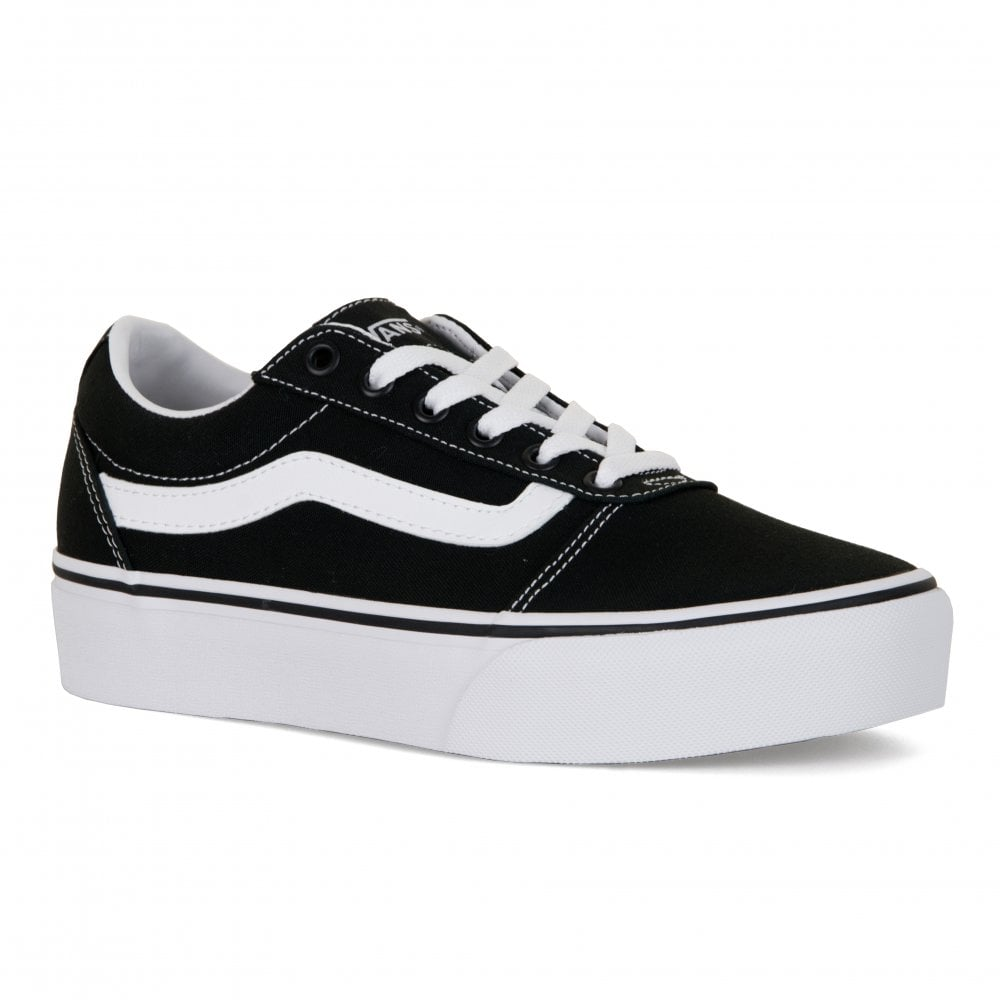 Vans Womens Ward Platform Canvas Trainers (Black) - Womens from ... 09ea9b73c962