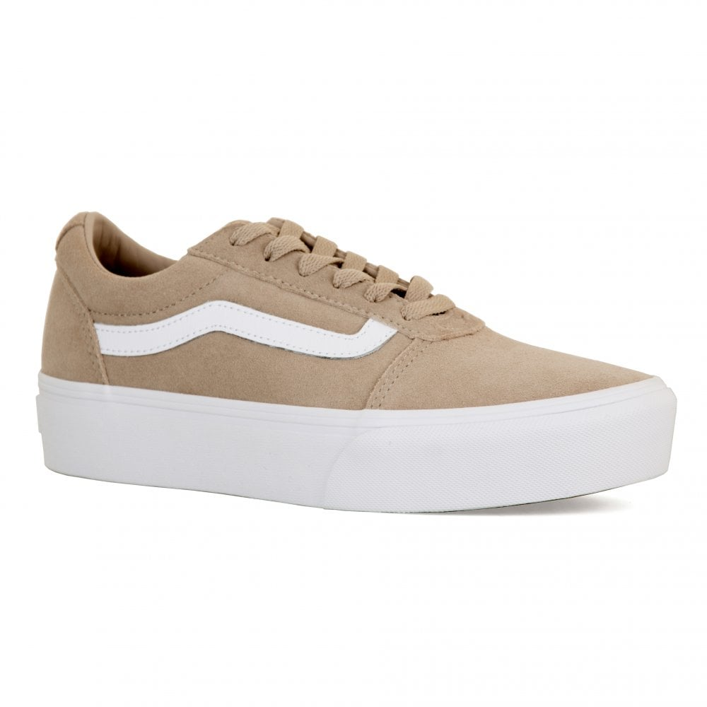 7c64f09dadc4 Vans Womens Ward Platform Suede Trainers (Stone) - Womens from Loofes UK