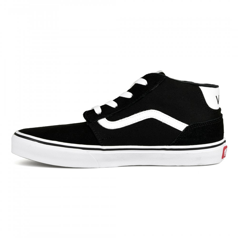 8b8fb88074c Vans Youths Chapman Mid Trainers (Black) - Kids from Loofes UK