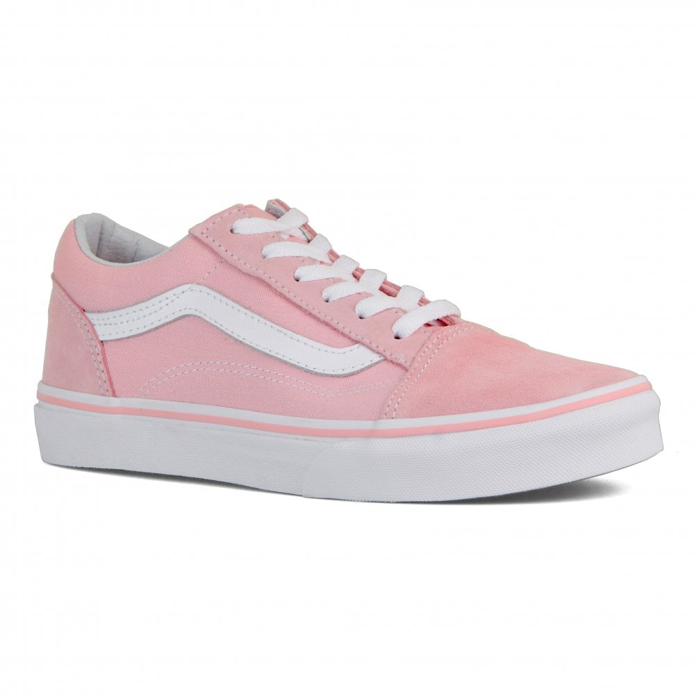 e6060534636 Vans Youths Old Skool Trainers (Pink) - Kids from Loofes UK