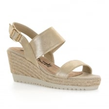 Xti Womens Wedge Heel Sandals (Gold)